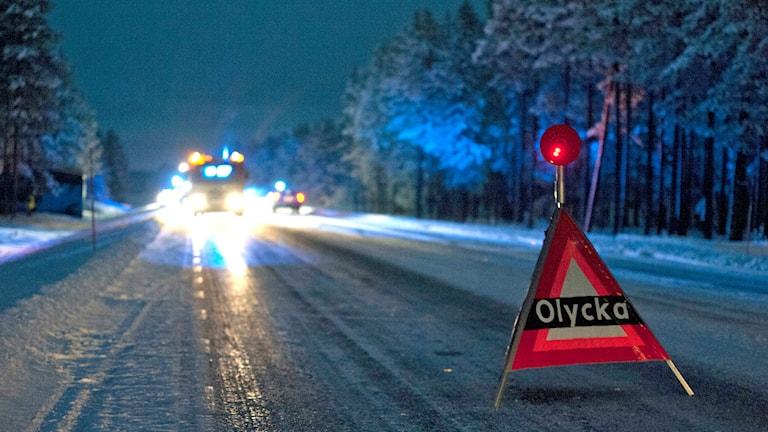 En olycksplats. Foto: Victor Lundberg/TT.