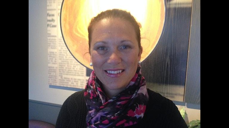 Malou Sköld är samordnare för handeln i Bollnäs
