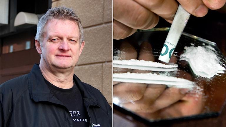 Johnny Gustafsson, drogsamornare i Gävle kommun, har sett en tydlig ökning av drogförekomsten i avloppsvattnet. Foto: Linnea Johansson, SR/Claudio Bresciani, TT.