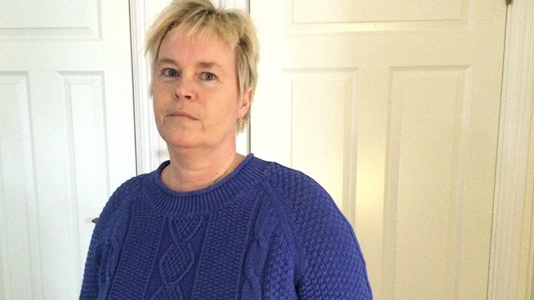 Anette Nilsson, vårdbiträde i Ljusdal vill helst slippa de delade arbetspassen. Foto: Agneta Sundberg/Sveriges Radio