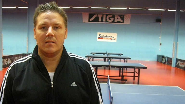 SUIF:s tränare Peter Blomquist. Foto: Jenny Agö/Sveriges Radio