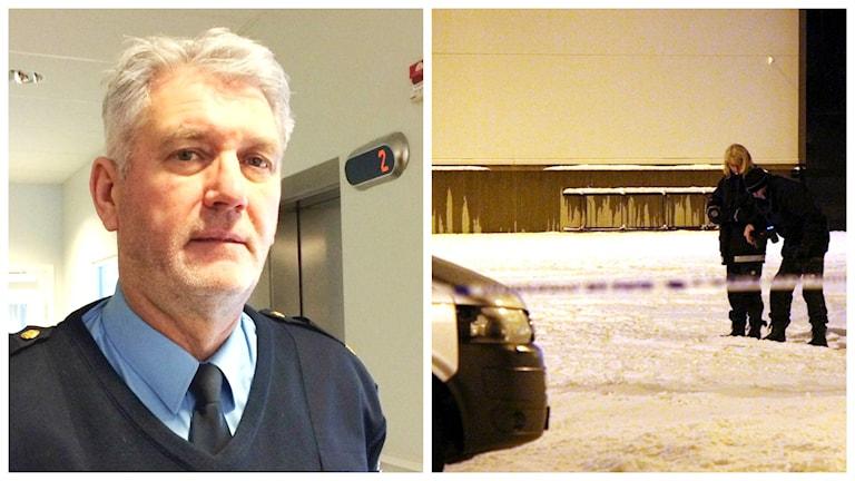 Polisens presstalesman Mikael Hedström. Foto: Sveriges Radio/Roger Nilsson