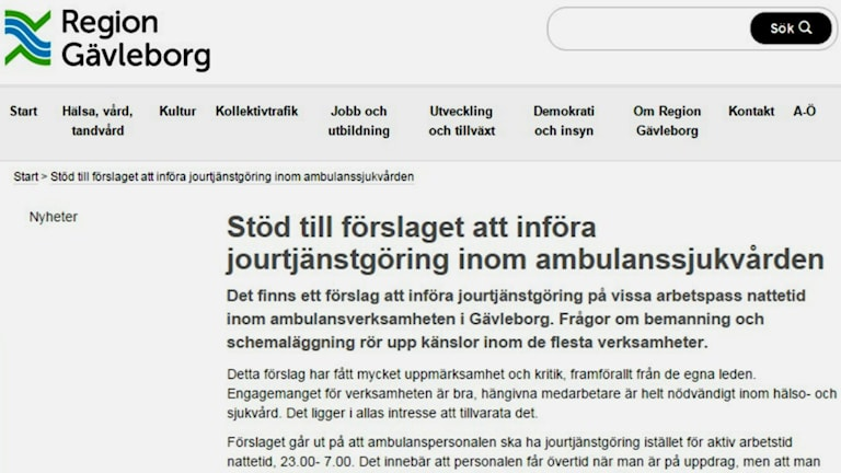 23 chefer ger sitt stöd till kritiserat förslag. Foto: Region Gävleborg