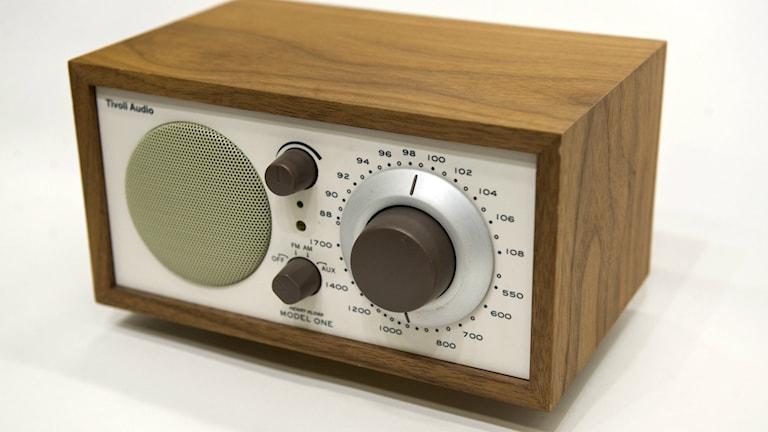 En radioapparat.