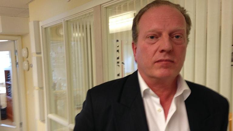 Stefan Wennerstrand VD för NärLjus i Ljusdal. Foto: Oliver Bergman/Sveriges Radio