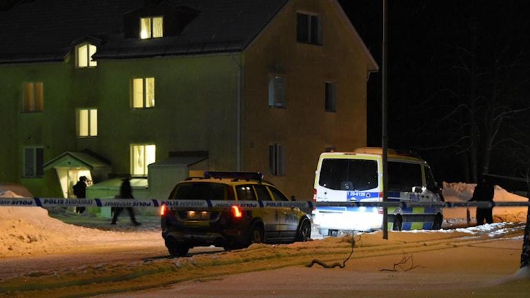Polispådrag vid asylboende i Ljusne.