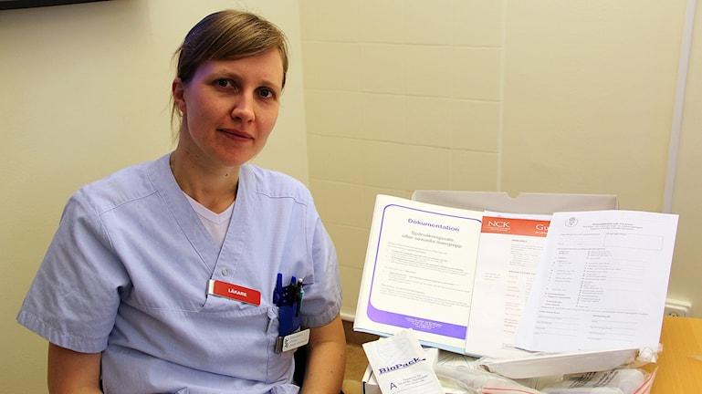 Maria Severin, ST-läkare vid Hudiksvalls sjukhus.