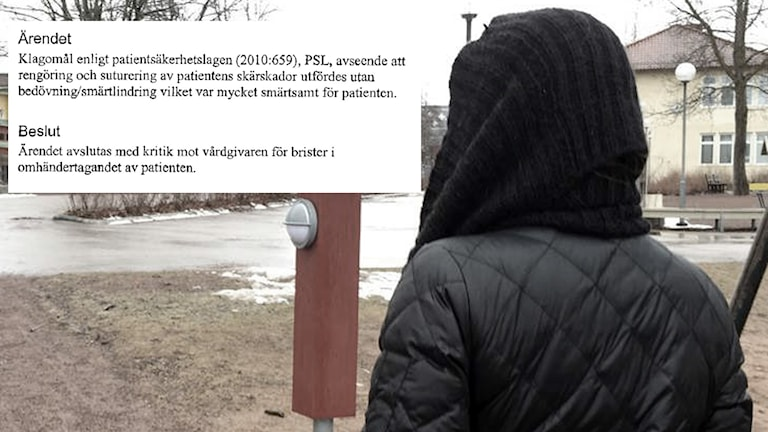Hård kritik mot Bollnäs sjukhus efter att en ung kvinna sytts utan bedövning. Kvinnan på bilden har dock inget med artikeln att göra.