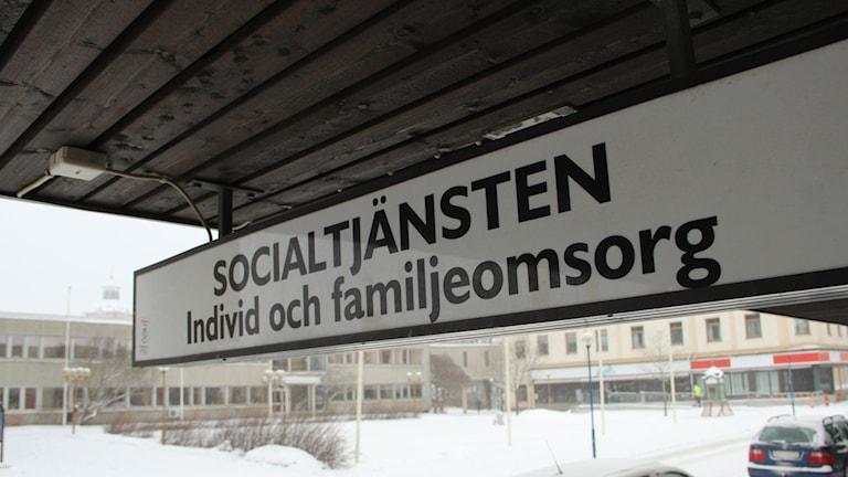 Socialtjänsten Bollnäs individ och familjeomsorg skylt