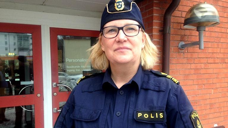 Kristina Holgersson är polisområdeschef i Hälsingland.