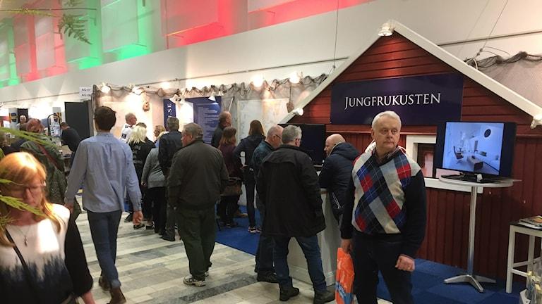 Jungfrukusten visar upp sig på Stockholmsmässan.
