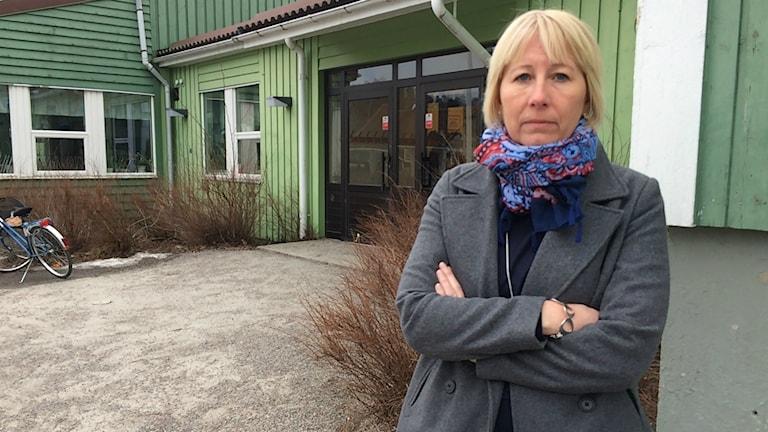 Eva-Britt Hartikainen, rektor på Östra skolan i Söderhamn.