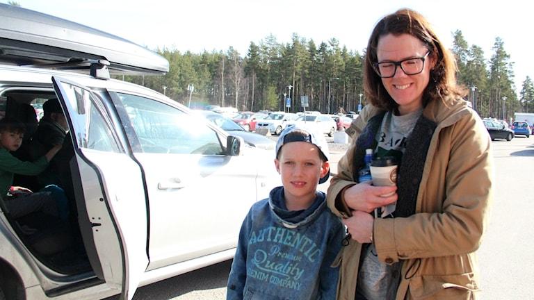 Lotta Forsgren från Uppsala med sin son Albert