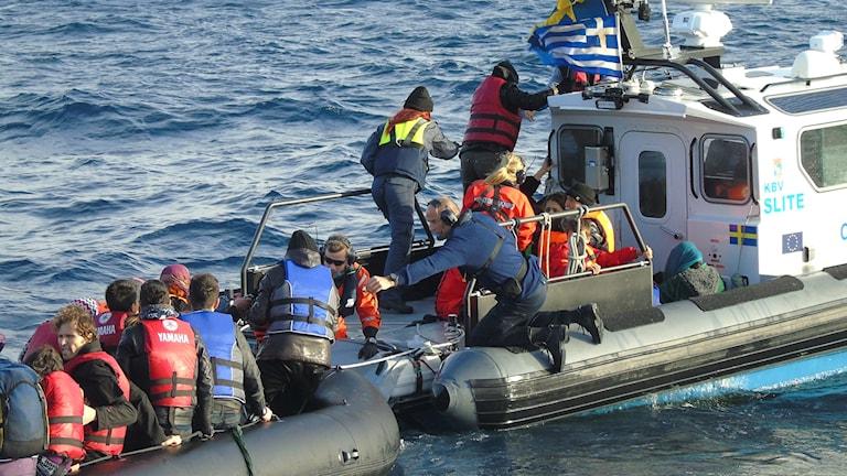 Göran Grudén Svensson har arbetat med Kustbevakningen vid grekiska Lesbos.