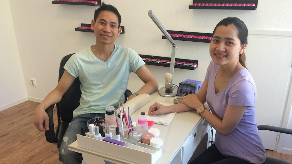 Minh Ton och My Le har precis öppnat sitt företag i Bollnäs.