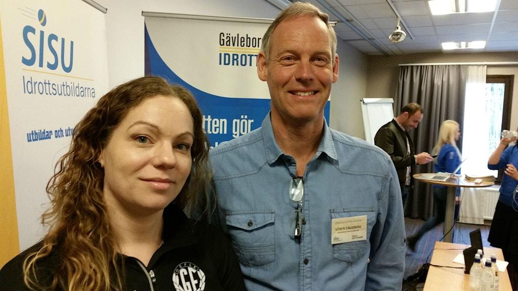 Camilla Ström och Sören Calleberg är två duktiga föreningsledare som varit med och utvecklat idrotten i Gävleborg.