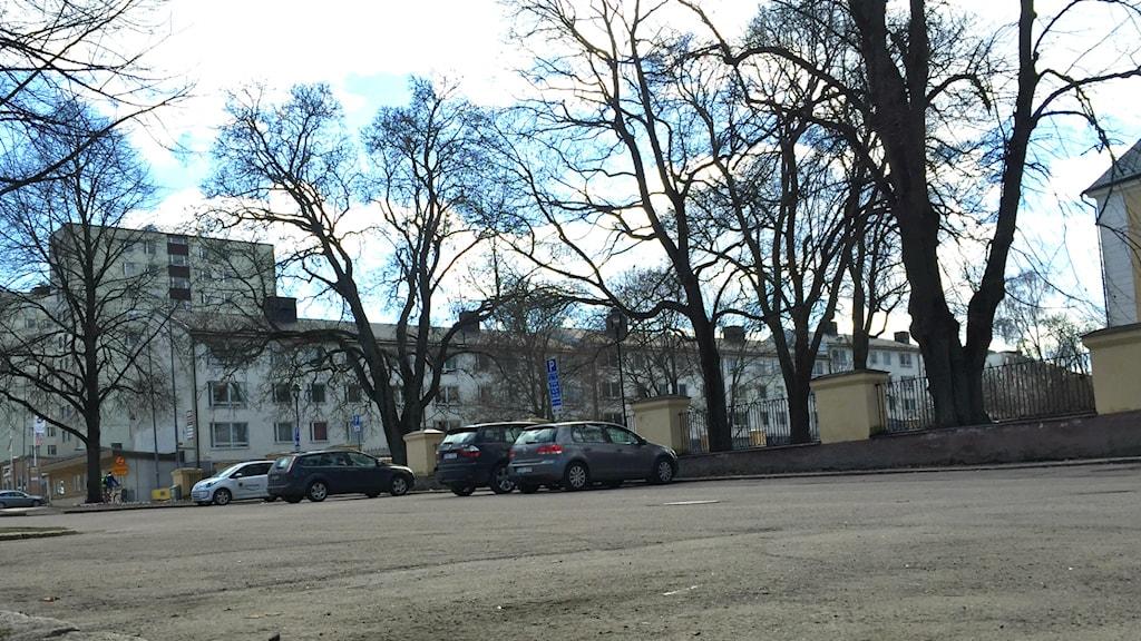 Parkeringsplasten vid Gävleslott.
