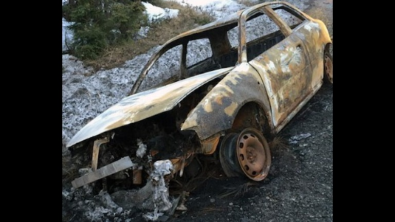 Natten till onsdagen den 6 april anträffades en utbrunnen bil norr om Bergforsen intill länsväg 331.