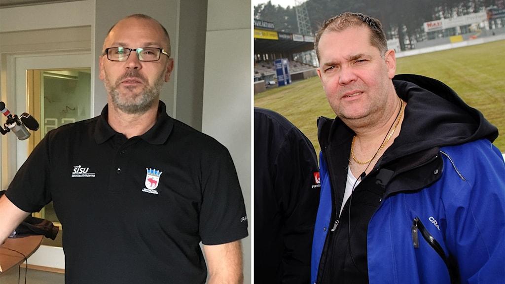 Urban Ivarsson Gestriklands Fotbollförbund futsalansvarig och Gert Nilsson SvFF evenemangsansvarig.