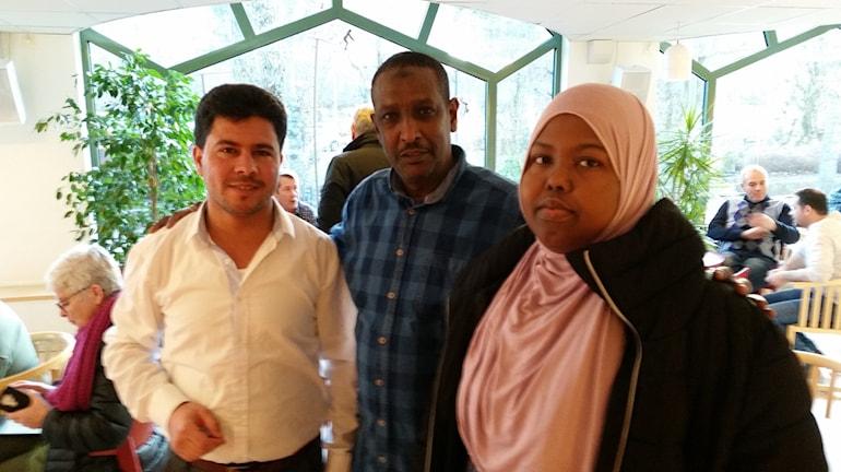 Emad Hamdo, Abdi Ahmed och Sahro Hussein har varit med och byggt informationssajten