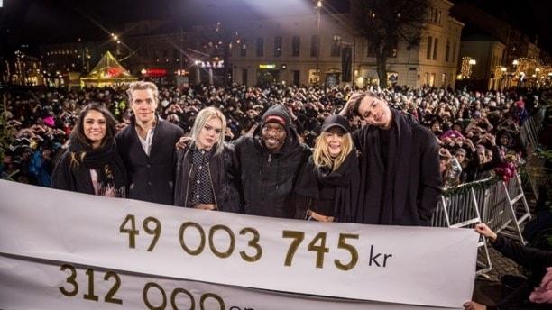 Nytt rekord i Musikhjälpen.