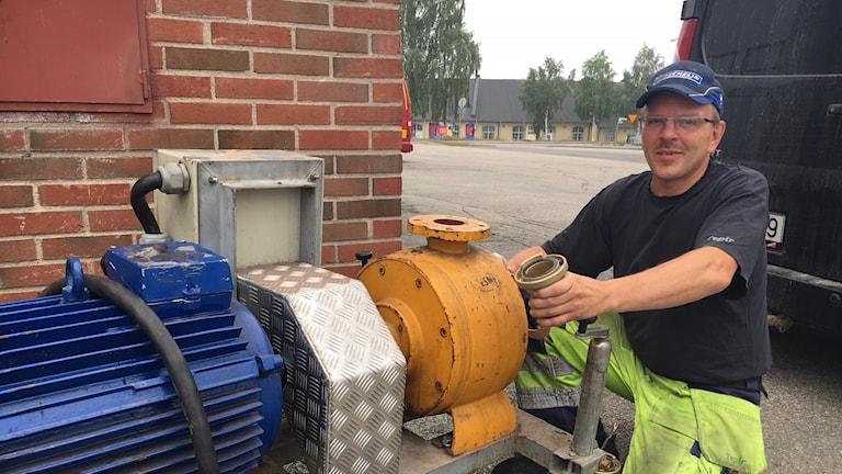 Tony Norberg från Ljusdals motorsällskap.