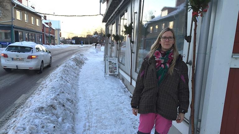 Järvsö Genomfart Snöröjning Plogbli Väghållning Risk Riskabelt Fara Trafik Trafikverket Turistvägen Kajsa Winder