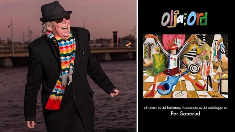 """Konstnären Per Sonerud. Omslaget på boken """"Olja & ord""""."""