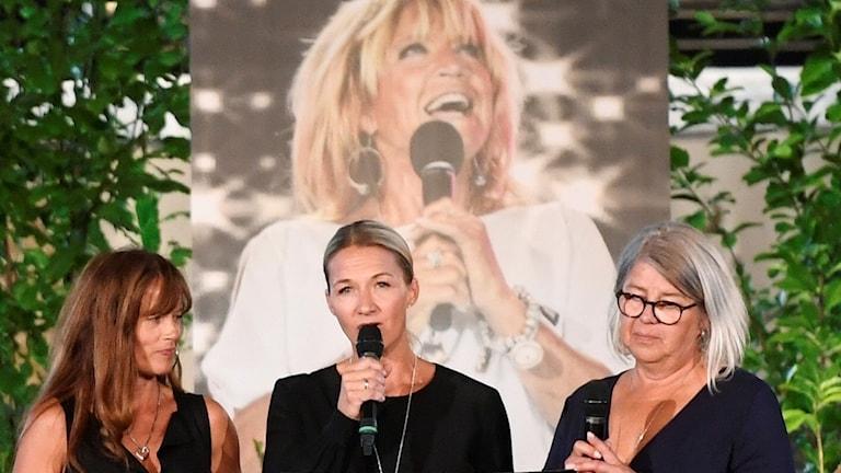 Minnesstund Malin Berghagen, Kristin Kaspersen och Monica Svensson.