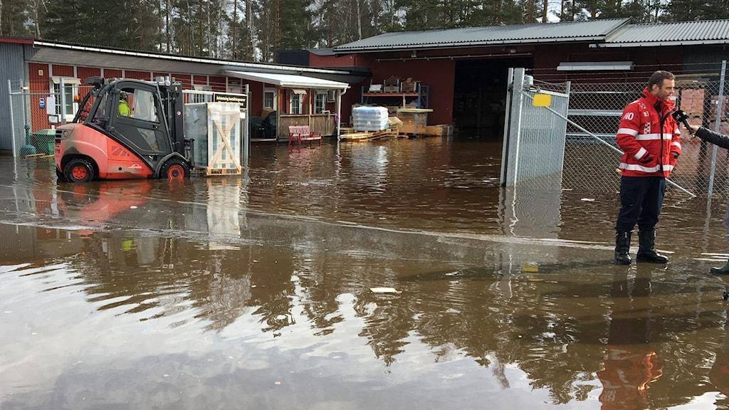 Översvämning Sandviken
