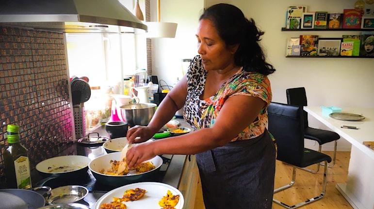 Shashi Berglund är expert på att laga god och näringsrik mat.