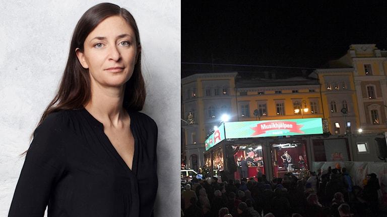 """I år blir Musikhjälpens tema barnsexhandel. Natalie Gerami jobbar deltid som projektledare på Ecpat, och har skrivit boken """"Tysta rop, barns berättelser om sexhandel""""."""