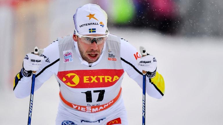 Emil Jönsson under ett lopp