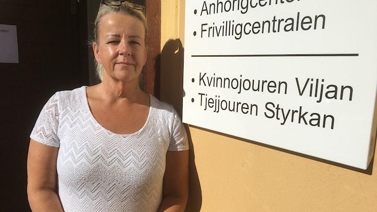 Nu är dörrarna öppna igen till kvinnojouren Viljan i Ljusdal där Ann-Chatrine von Wachenfeldt tar emot.
