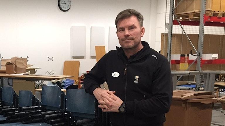 Fredrik Sandberg, arbetsledare möbelpoolen i Gävle