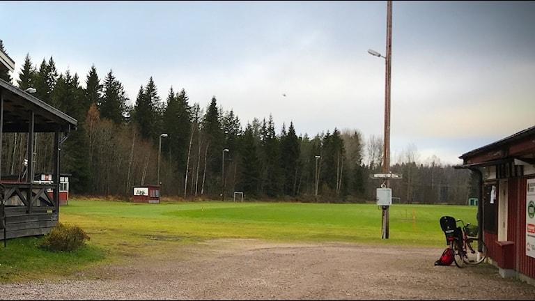 Hagaströms IP, i närheten av den plats kvinnan tros ha försvunnit.