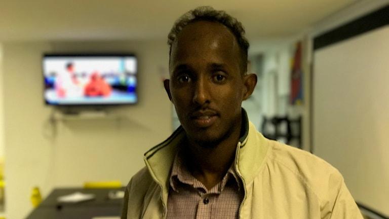 Said Abdullah inne i somaliska föreningens lokaler.