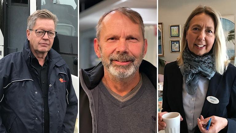 Larsa Lönn, till Lönns Buss, Peter Jansson- Gävle Taxi och Helene Åkerström Hartman, Orbaden spa.