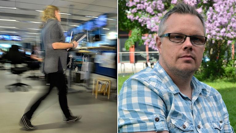 Mattias Nyström, ordförande för Akademikerförbundet SSR i Gävle vittnar om en tuff arbetsmiljö på socialtjänsten.