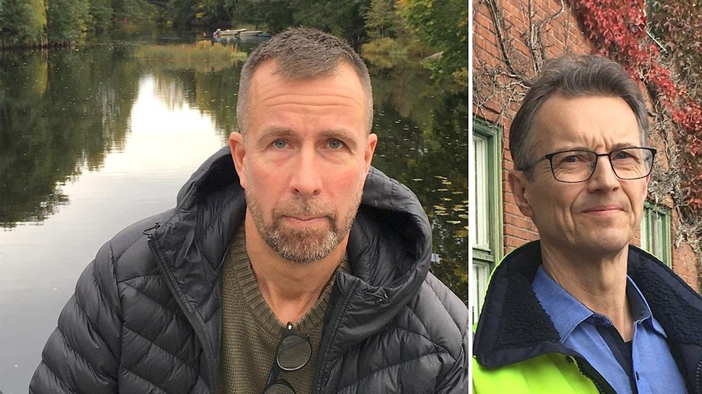 Projektet är bra för fisket, anser Lars Ljunggren, sportfiskarna. Hamrångefjärden bör avregleras, anser Lars Eriksson, strategichef i Stora Enso Pulp.