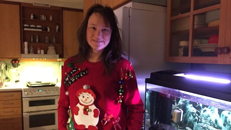 """""""Klart man vill stoltsera med den där snyggingen i juletiden!"""" Hade Sussie skrivit som kommentar i vår FB-tråd för att vara med i utlottningen."""