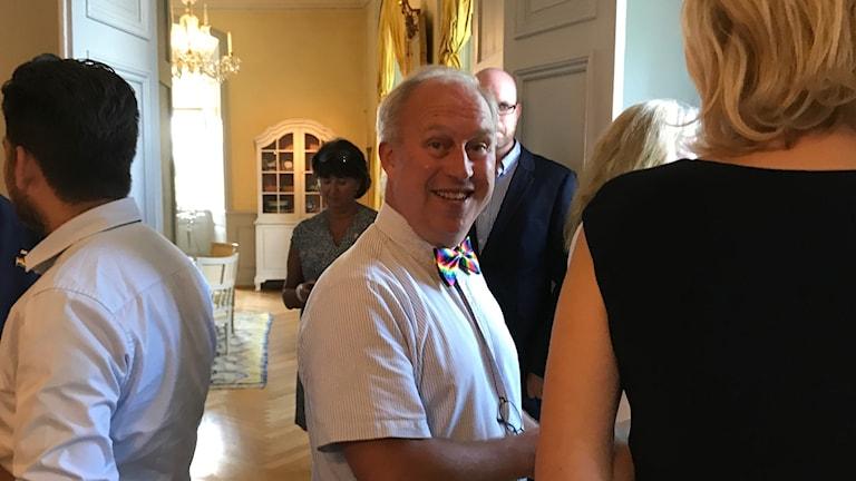 Per bill under minglet på Gävle Pride