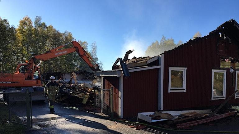 Förskolebranden i Sörforsa misstänks ha varit anlagd.
