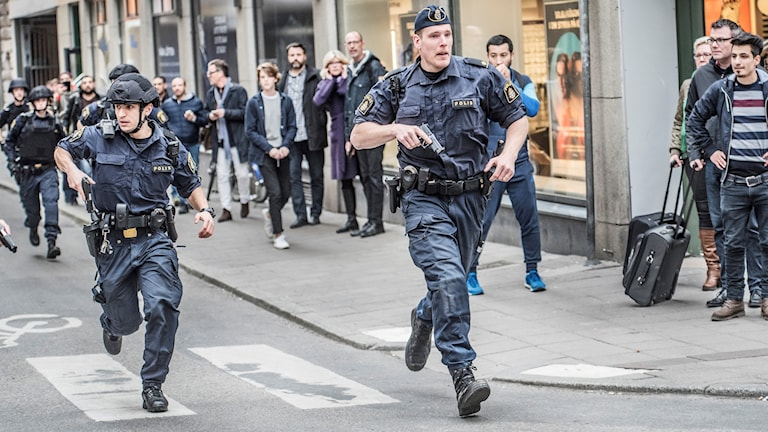 Terroristattack Beredskapspolis