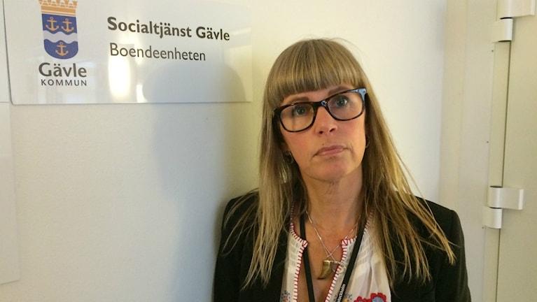 Kia Fernlund, enhetschef för socialtjänstens boendeenhet i Gävle.