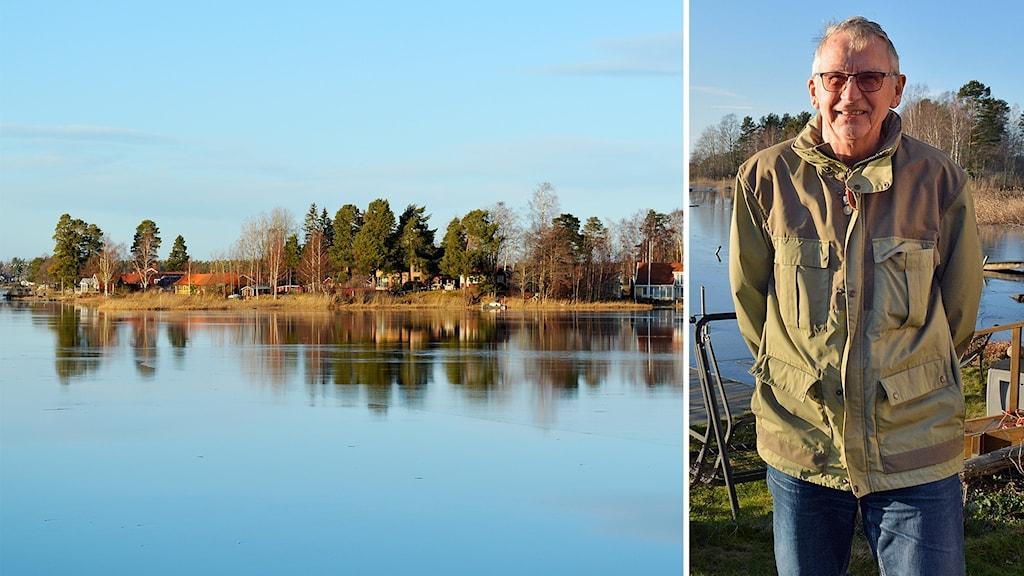 """""""Miljösamvetet"""" lättar när Heliga landet får kommunalt avlopp. Husägaren Ingvar Svärd hoppas att algblomningen ska minska."""