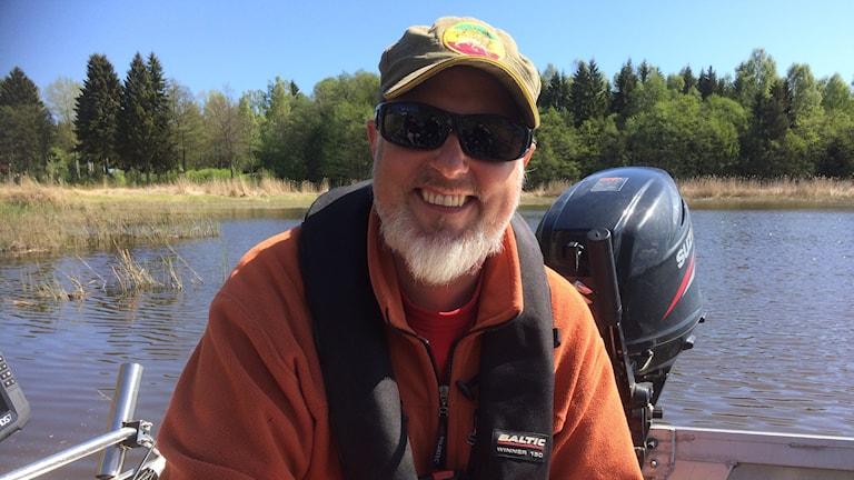 Nichlas Dahlén, fiskebiolog vid Länsstyrelsen i Gävleborg