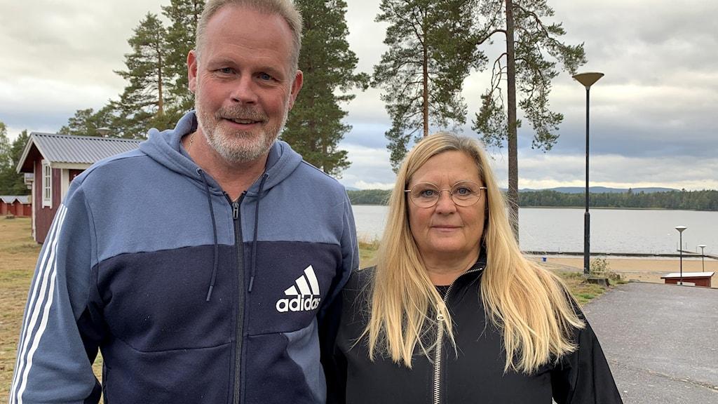 Ronney Olsson, ordförande, och Laila Hämäläinen, verksamhetschef, på Iggesunds IK.