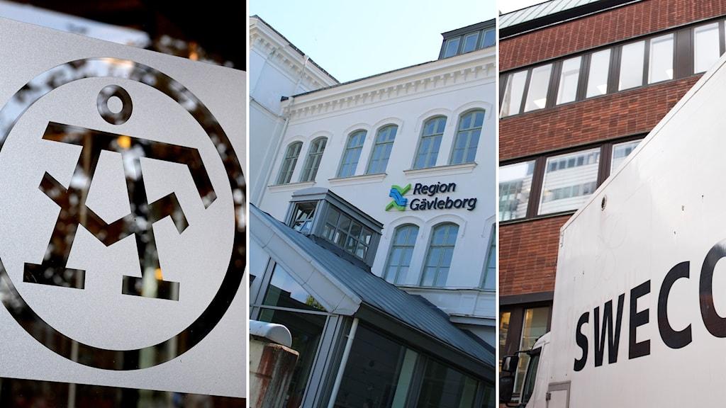 Företaget ÅF, Region Gävleborgs kontor och Sweco.