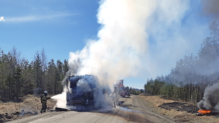 lastbilsbrand
